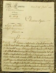 1832 376) LETTERA DEL POLITICO E MILITARE TORINESE MARCHESE AGOSTINO LASCARIS