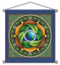 "Mandala Arts 30"" X 30"" Temple Banner ""Conservation"" (TB03)"