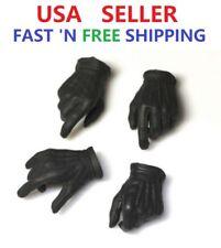 1/6 Black Gloves Gun Hands Robbers JOKER for 12'' Male Figure Hot Toys PHICEN