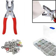 9.5mm 120pcs Metal Prong Ring Press Studs Popper Fasteners Plier DIY Tool inBox