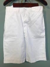 Vintage 1920's 1930's mens white cotton sports shorts size 32