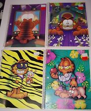 1980s GARFIELD Mead notebook Lot of 4 x 60 Sheets 10 1/2 x 8 Coiled New vtg