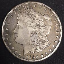 1890 Cc Morgan Silver Dollar W/Tail Bar Variety Vf Condition Very Nice Cc Dollar