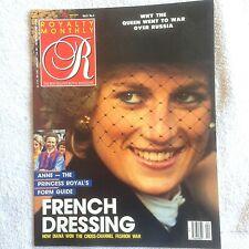 Royalty Monthly Magazine Vol. 8 No. 4. Princess Diana, Princess Anne Jockette.