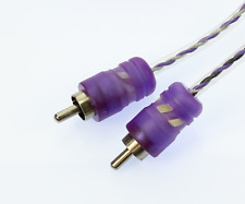 VOODOO 20 ft 6 Meter RCA Interconnect cable Purple OFC Copper