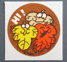 Vintage TREND Stinky Stickers LEAVES matte Scratch-N-Sniff sticker
