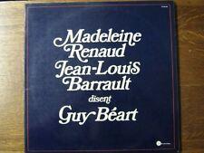 MADELEINE RENAUD JEAN-LOUIS BARRAULT GUY BEART 33 TOURS