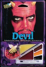 Schminke und Bühnen-Make-Up für Teufel Kostüme