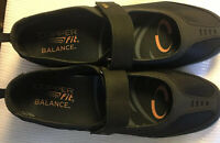 Copper Fit Limitless~Mary Jane Shoes~Size 7M, BLACK, Mesh Strap, Support,Cushion