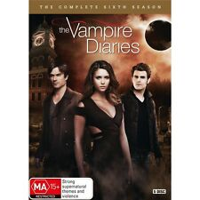 THE VAMPIRE DIARIES-Season 6-Region 4-New AND Sealed-5 Dics Set-TV Series