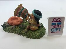 "Enesco Friends Of The Feather ""Making Fire� 188298 Vintage Figurine"