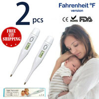 2 pack Digital LCD Oral Thermometer Fahrenheit Medical Baby Kid Adult US Seller
