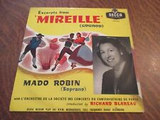 33 tours MADO ROBIN (soprano) excerpts from 'mireille' (GOUNOD)