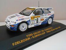 3565 IXO COCHE FORD ESCORT RS COSWORTH DELECOUR GRATALOUP MONTE CARLO CAR 1/43