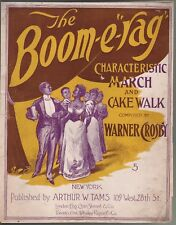 The Boom E Rag March and Cake Walk 1898 Large Format Sheet Music