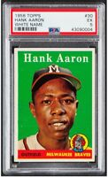1958 Topps Hank Aaron #5 White Letters PSA 5 - High-End Qualities