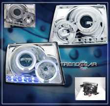 1997-2000 TOYOTA TACOMA HALO LED JDM PROJECTOR HEADLIGHTS LAMPS CHROME 1998 1999