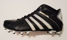 Adidas Scorch Destroy Fly Mid Men's Football Cleats Shoes Black Size 15 New