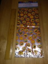 "Smile Smiley Face Emoji Design 11.5"" Tall Cellophane Party Bags Cello (25 In PK)"