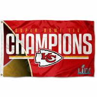 KC Chiefs Super Bowl 54 LIV Champions 3 by 5 Banner Flag