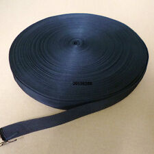 1 Inch Wide Black Nylon Heavy Webbing Strap Thick Knapsack Belt 10 Meters