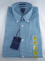 Dockers Men's Dress Shirt Sz Medium Classic Fit Plaid Button Down Long Sleeve