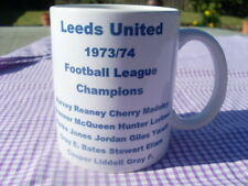 Leeds United 1973/74 Championship team celebration mug 11oz original (brand new)