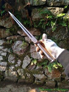 Boar Spear Spearhead Sharp Honsanmai Pattern Steel + T10 Steel Blade Sword #2292