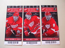 2014 DETROIT RED WINGS TICKETS (3) JUSTIN ABDELKADER vs TAMPA, PHIL & BUFFALO