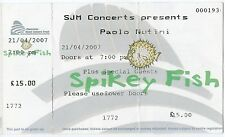 PAOLO NUTINI - 1 Used Ticket from the Concert Tour 2007 - MUSIC