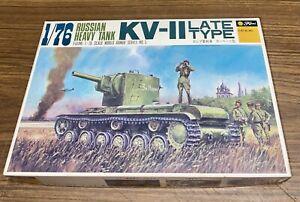 BNIB Fujimi 1:76 Russian Heavy Tank. KV-II Late Type. World Armor Series no.3