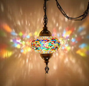 Luxury LED Ceiling Light Moroccan Hanging Lamp Pendant Lantern Home Decoration