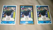 David Price 2007 Bowman Draft & Gold RC Rookie Lot Boston Red Sox 3 card lot
