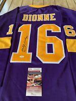 Marcel Dionne Autographed/Signed Jersey JSA COA LA Los Angeles Kings