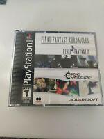 Original Final Fantasy Chronicles PS1  Case  w/manual. NO DISC FAST SHIPPING