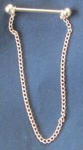 New Collar Show Pin showing Dressage gold silver with chain