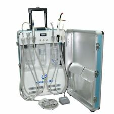 Dental Portable Unit+Triplex Syringe+Air Compressor+Piezo Scaler+Curing Light 4H