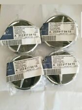 Mercedes Black Alloy Wheel Centre Hubs Caps 75mm with Chrome Star