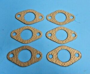 "Set of 6 Carburetor to Intake Manifold Gaskets for 1 1/4"" SU MG Midget 1962-1974"