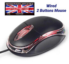 🔥 BASIC WIRED USB OPTICAL MOUSE FOR PC LAPTOP COMPUTER SCROLL WHEEL WINDOW MAC