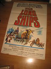 The Long Ships Original 1sh Movie Poster '64 Richard Widmark, Sidney Poitier,