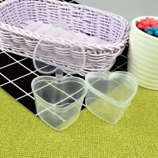 Plastic Box Heart Shaped Clear Food Storage Organization Containers 10pcs