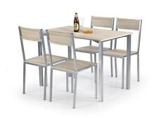 Oak Rectangular 5 Table & Chair Sets with Flat Pack