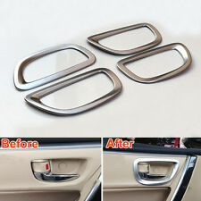 ABS 4Pcs Inerior Inner Side Door Handle Bowl Cover Frame Trim For Corolla 2014