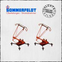 SOMMERFELDT 765 coppia pantografi monobraccio rossi SBS 81 - 1/87