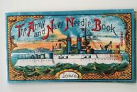 Vintage Army Navy Needle Book Battleship USS Iowa/ Eagle Made in Germany