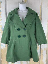 Women's Tulle Green PeaCoat Size Large