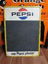 Vintage Pepsi Cola Chalk Board Sign Embossed