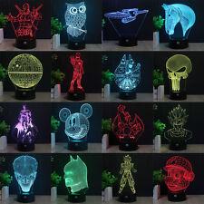 3D Acrylique LED star Wars Nuit Lumière Veilleuse Lampes de Table Créatif Cadeau