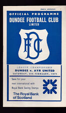 Dundee FC v Ayr United Football Programme February 6 1971